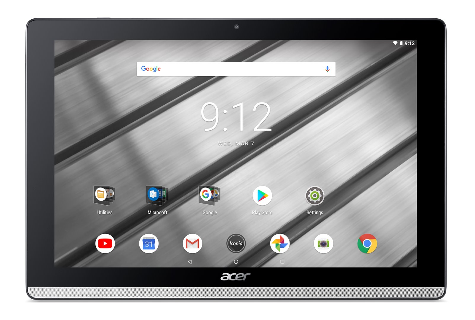 Acer Iconia One 10 - 10''/MT8167A/16GB/2G/IPS FullHD/Android 8.1 stříbrný