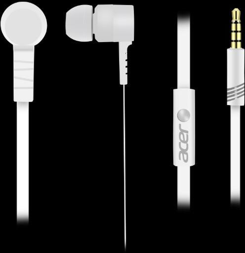 Acer In-Ear sluchátka bílé