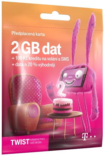 T-Mobile SIM Twist S námi, 2GB