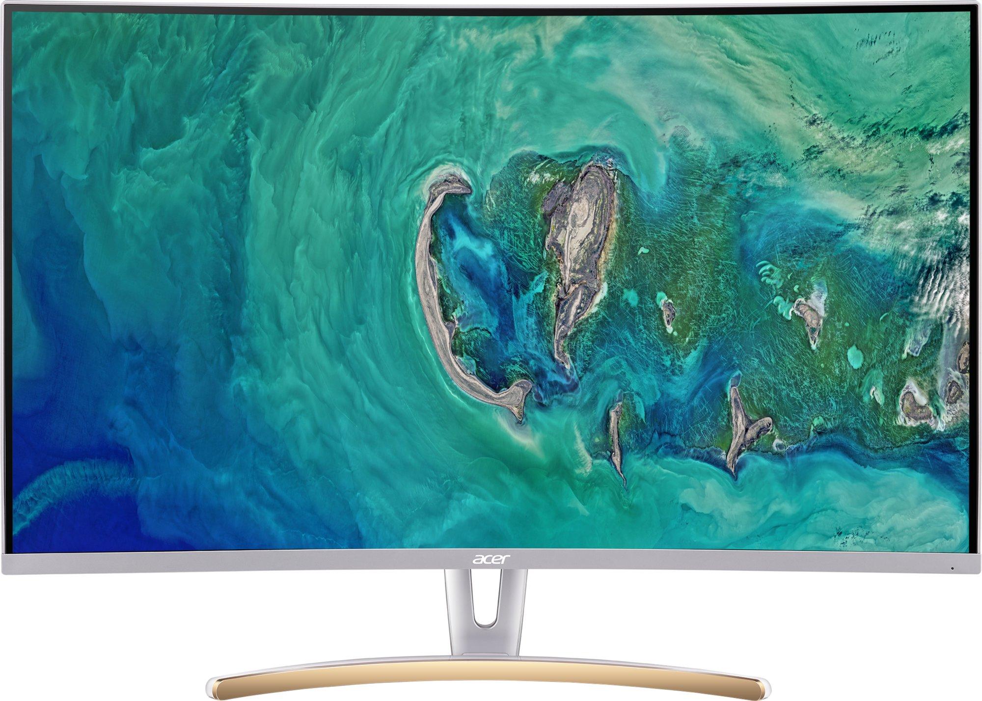 32'' LCD Acer ED323QUR - VA,WQHD,4ms,75Hz,250cd/m2, 100M:1,16:9,DVI,HDMI,DP,FreeSync,bílý