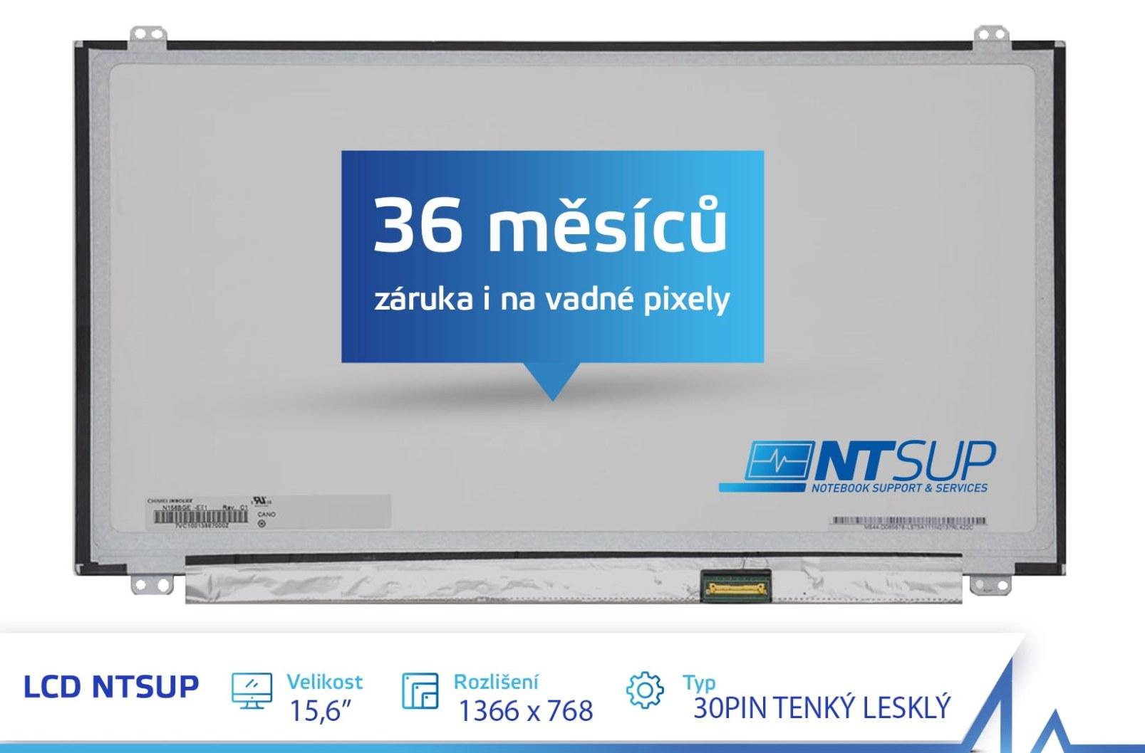LCD PANEL NTSUP 15,6'' 1366x768 30PIN TENKÝ LESKLÝ