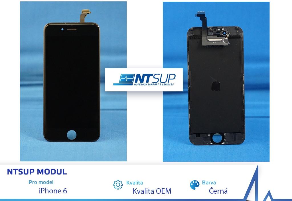 NTSUP LCD modul iPhone 6 černý kvalita B - 38890014