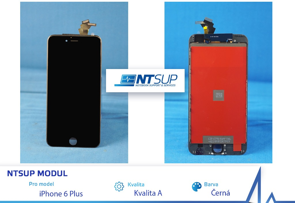 NTSUP LCD modul iPhone 6 PLUS černý kvalita B - 38890018