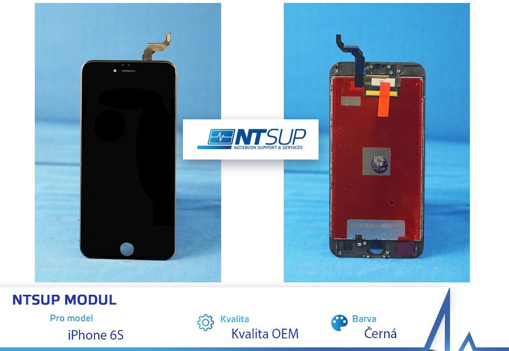 NTSUP LCD modul iPhone 6S černý kvalita B - 38890022