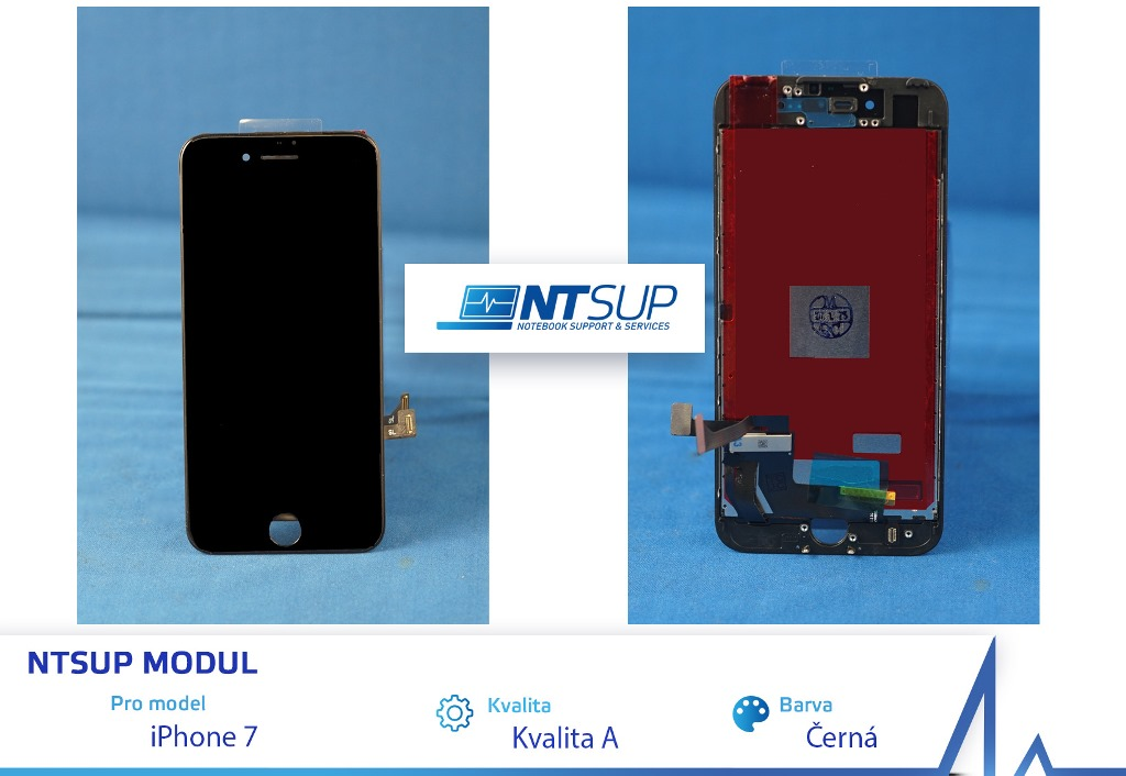 NTSUP LCD modul iPhone 7 černý kvalita A - 38890028