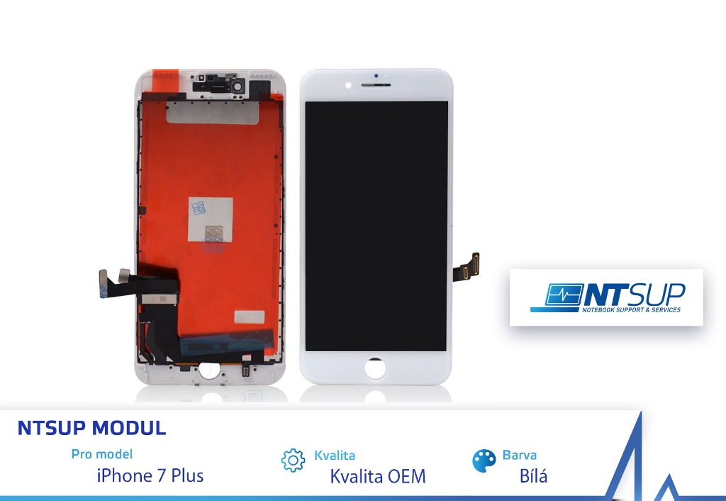 NTSUP LCD modul iPhone 7 PLUS bílý kvalita B - 38890033