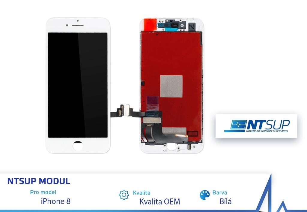 NTSUP LCD modul iPhone 8 bílý kvalita B - 38890037