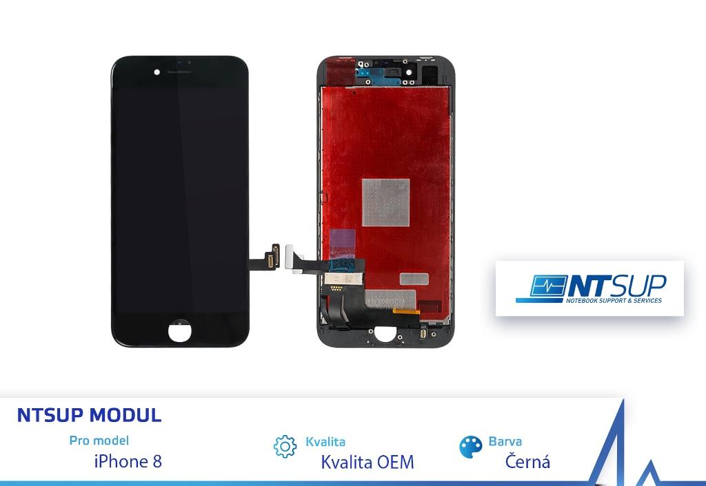 NTSUP LCD modul iPhone 8 černý kvalita B - 38890038