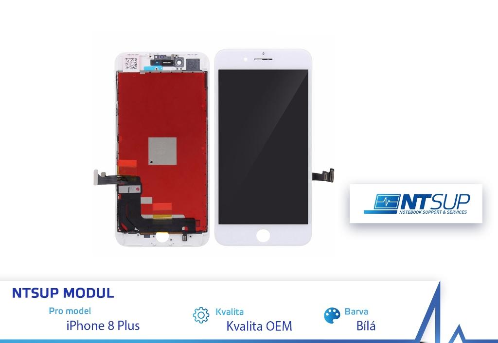 NTSUP LCD modul iPhone 8 PLUS bílý kvalita B - 38890041