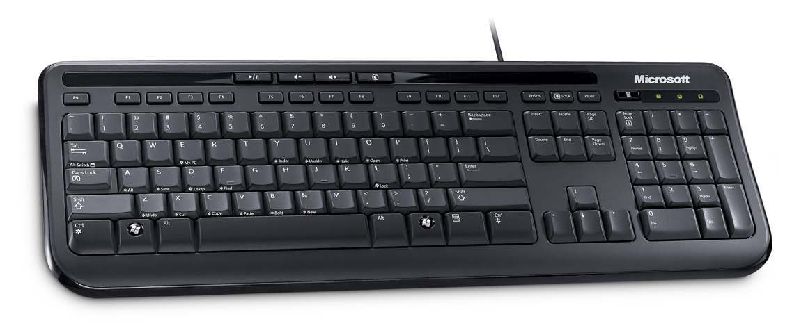 Microsoft Wired Keyboard 600 USB, CZ