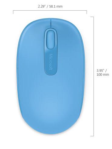 Microsoft Wireless Mobile Mouse 1850, Cyan Blue