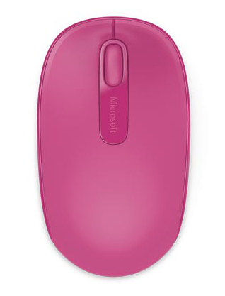 Microsoft Wireless Mobile Mouse 1850, Magenta Pink