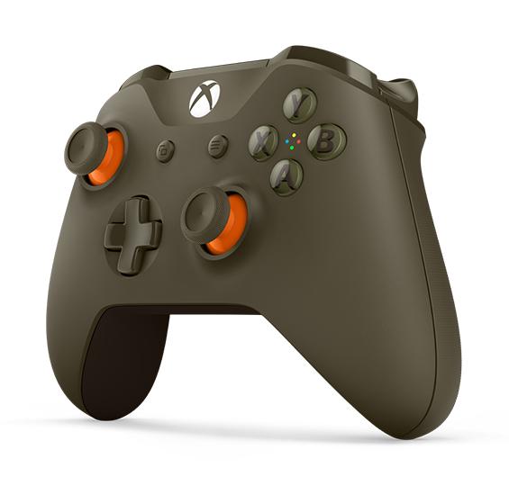 XBOX ONE - Bezdrátový ovladač Xbox One S vojenská zelená/oranžová [Creston]
