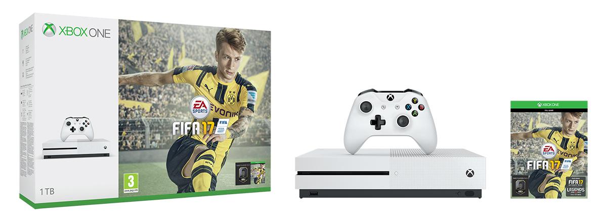 XBOX ONE S 1 TB + 1 x hra (FIFA 17)