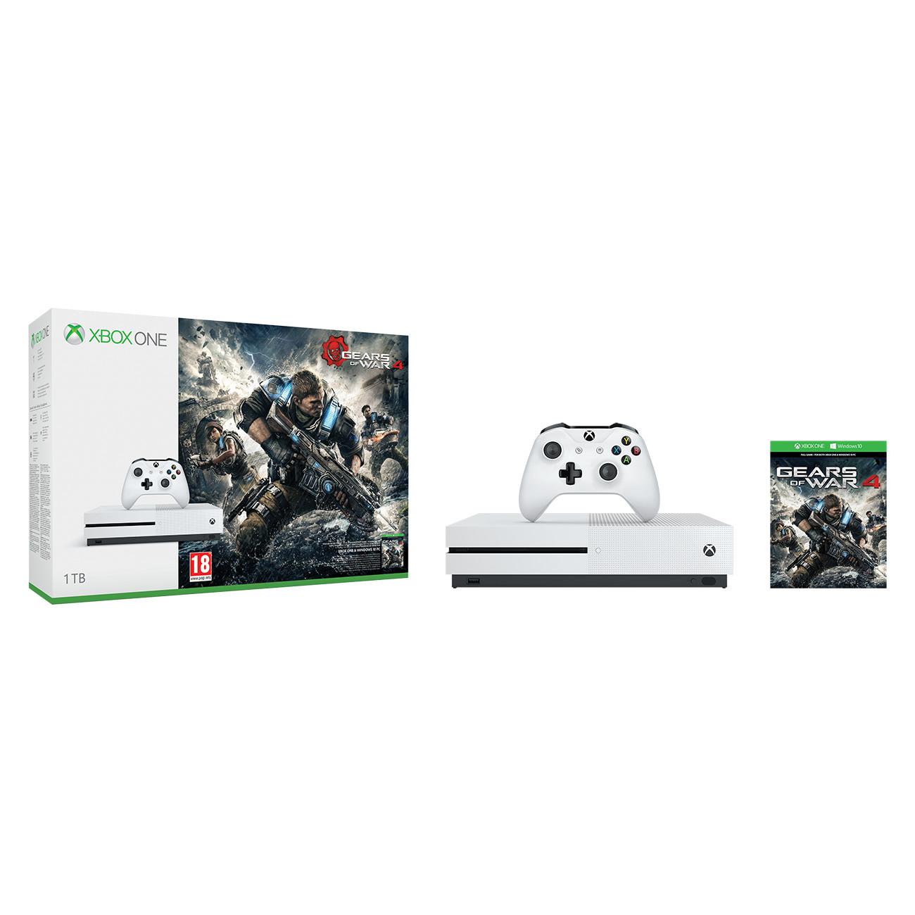 XBOX ONE S 1 TB + 1 x hra (Gears of War 4)