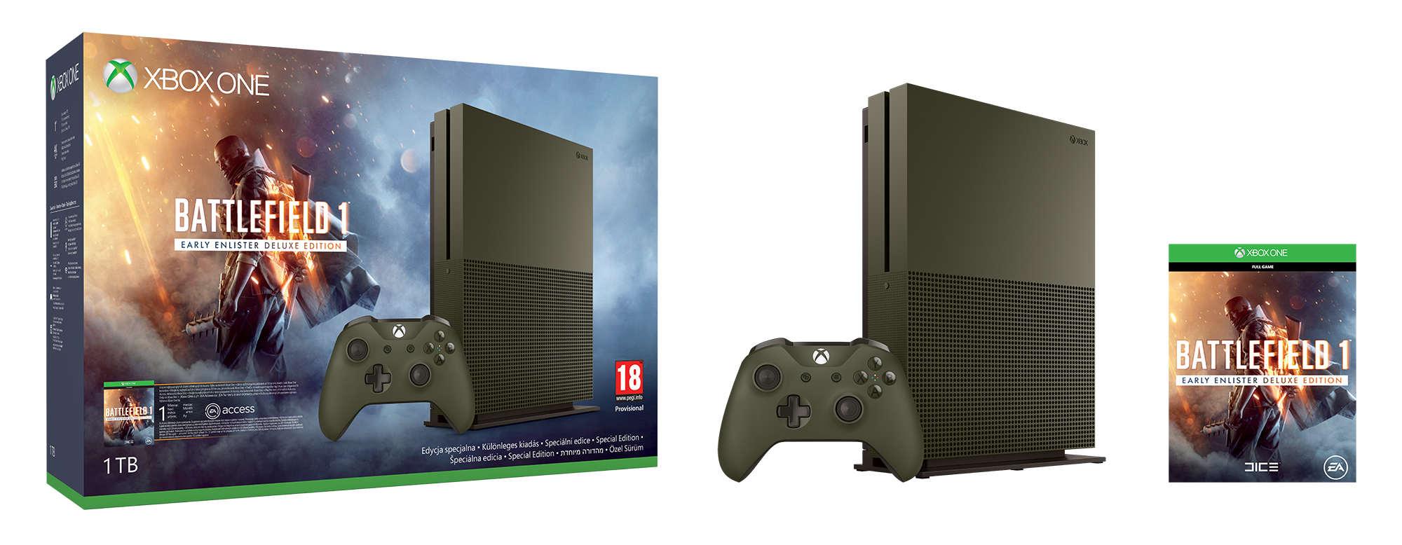 XBOX ONE S 1 TB Speciální Edice + 1 x hra (Battlefield 1) + 1 měsíc EA Access