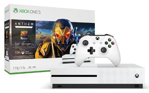 AKCE: XBOX ONE S 1 TB + Anthem: Legion of Dawn Edition + černý ovladač ZDARMA + GOW4 ZDARMA
