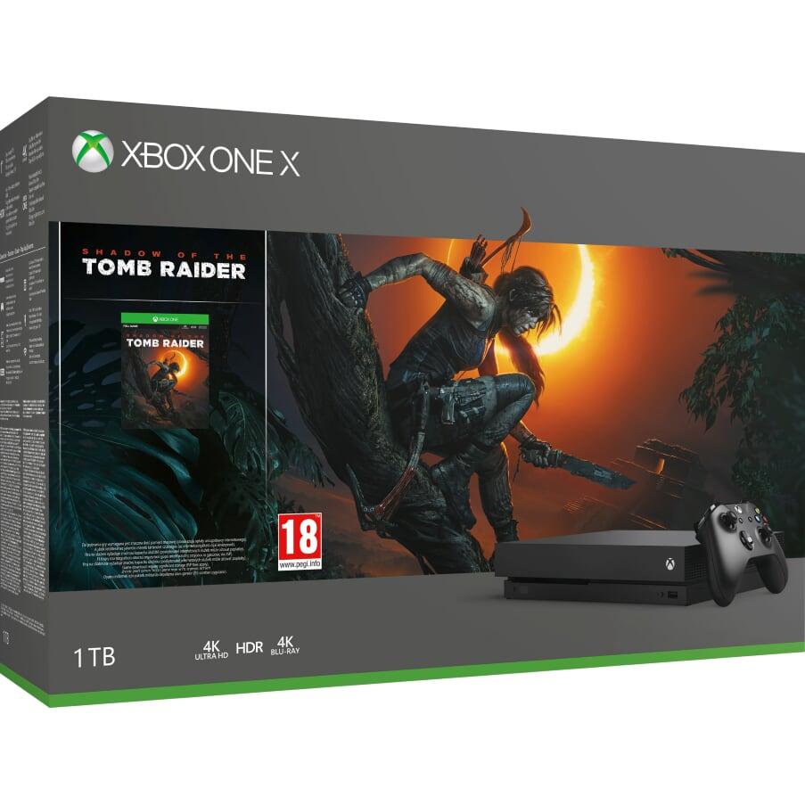 XBOX ONE X 1 TB + Shadow of Tomb Raider