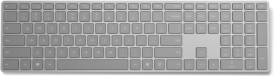 Microsoft Surface Keyboard Sling Bluetooth 4.0 (Gray), CZ&SK - WS2-00021