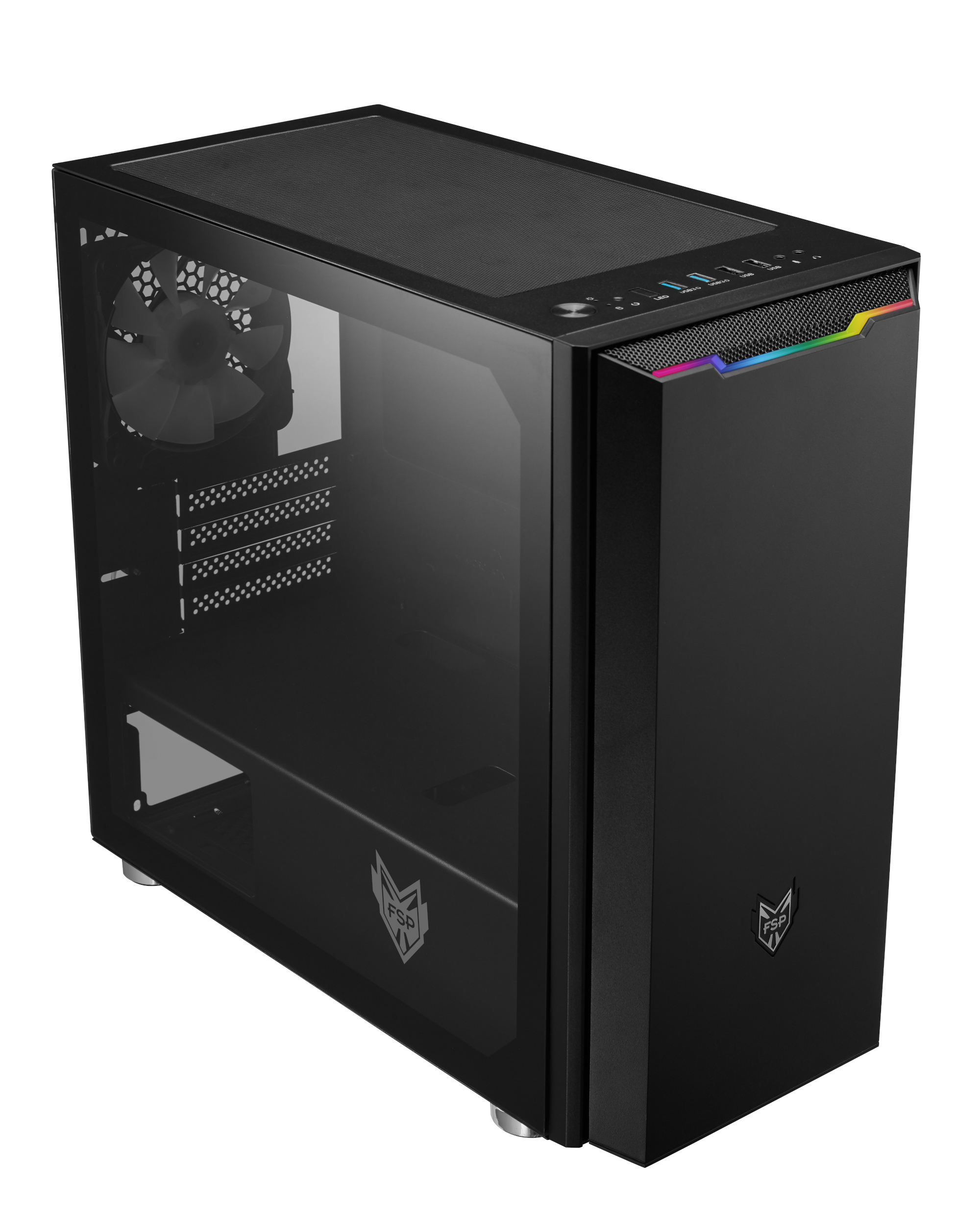 FSP/Fortron ATX Micro CST311 Black, průhledná bočnice - POC0000074