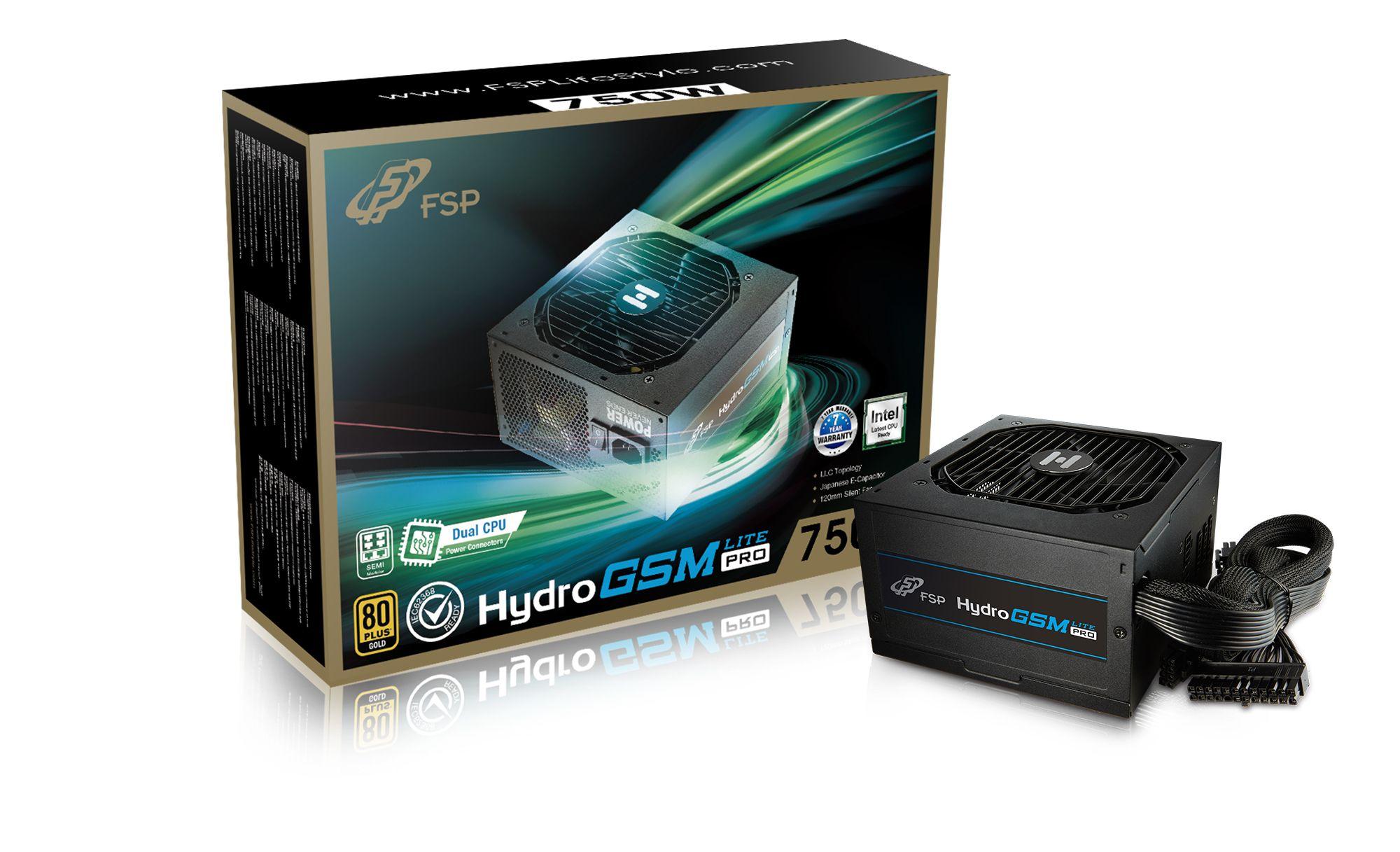 FSP/Fortron HYDRO GSM Lite PRO 750, 80PLUS GOLD, 750W, semi-modular - PPA7506101