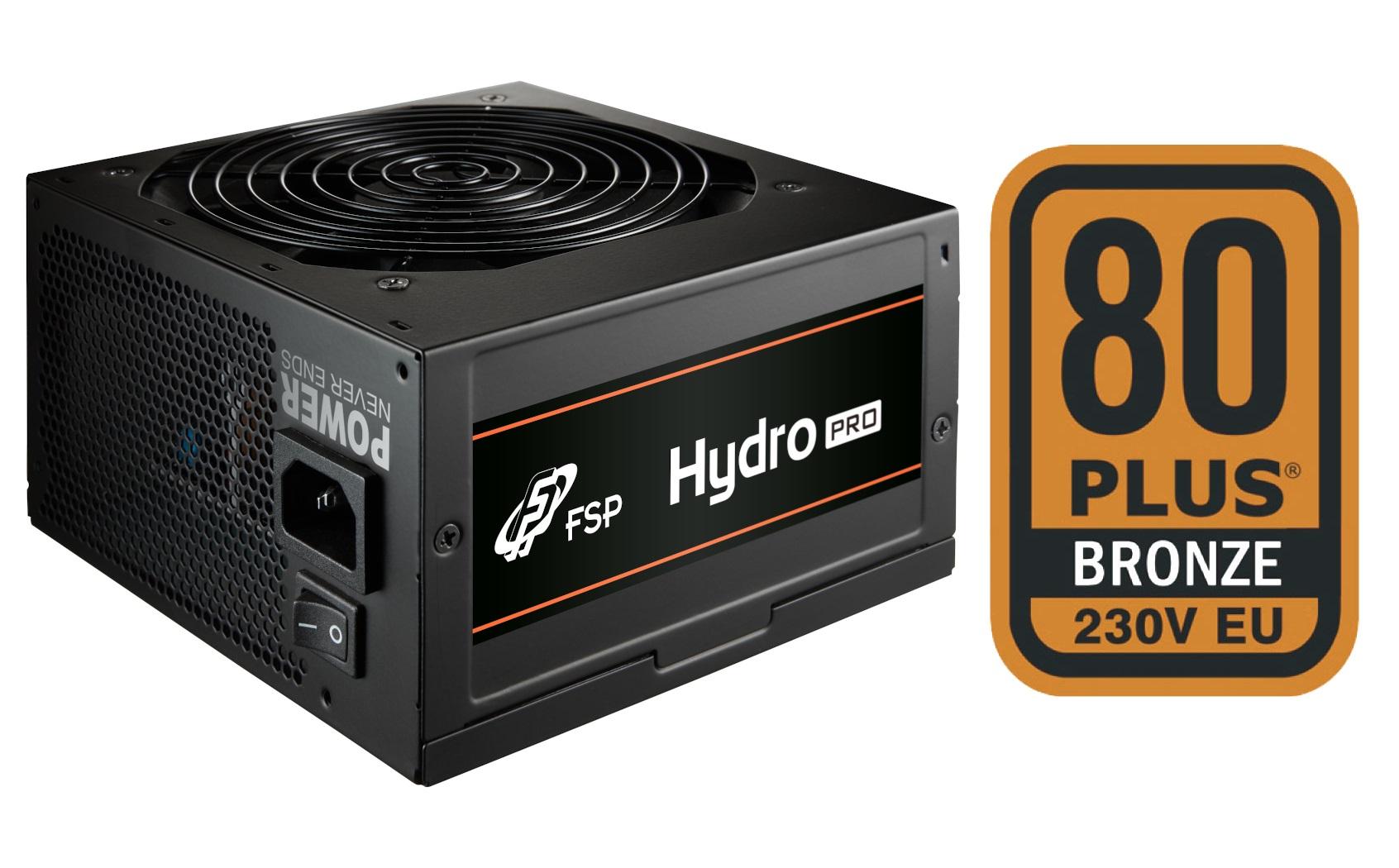 FSP/Fortron HYDRO PRO 500, 80PLUS BRONZE 230V EU, 500W, BULK
