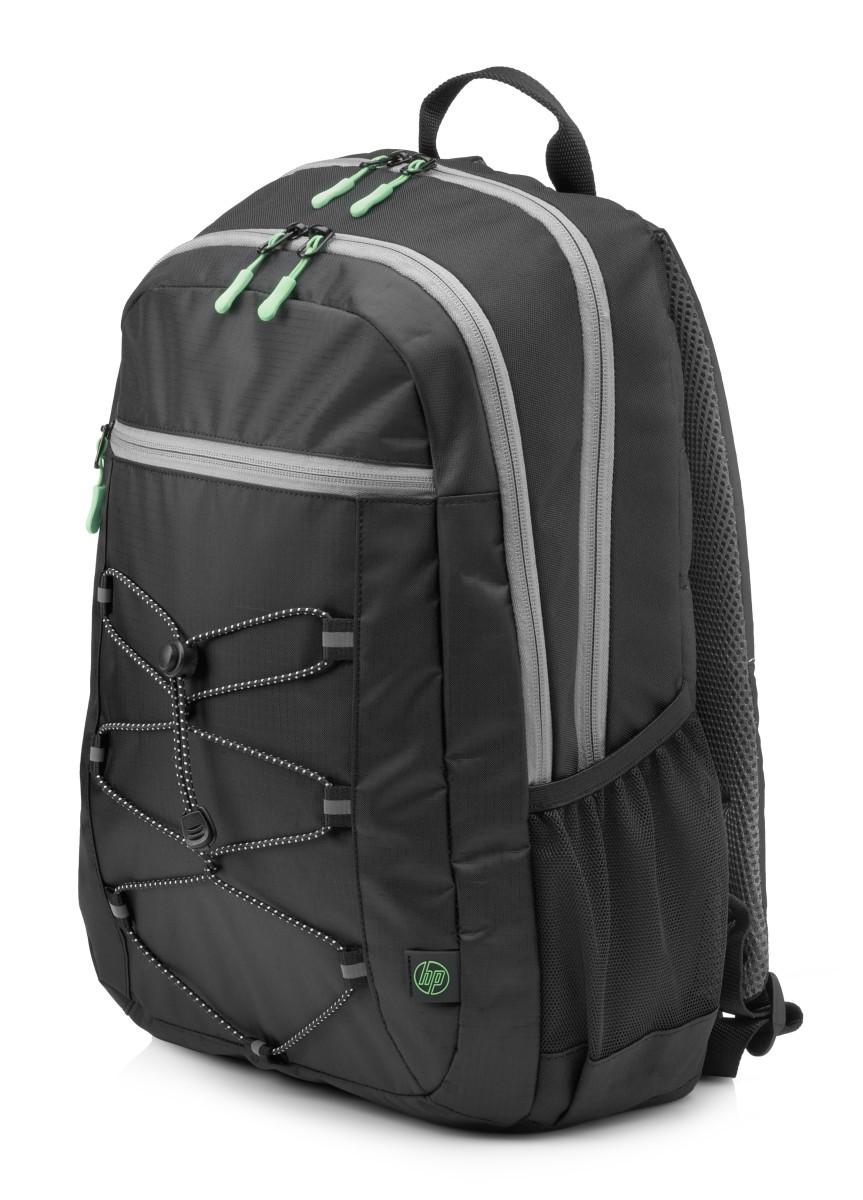 HP 15.6 Active Backpack (Black/Mint Green) - 1LU22AA#ABB