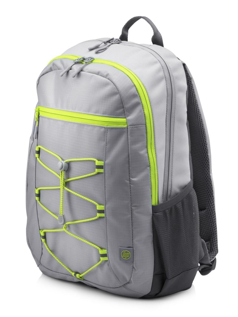 HP 15.6 Active Backpack (Grey/Neon Yellow)