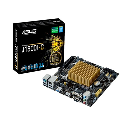 ASUS J1800I-C - Kompaktní a cenově výhodná základní deska s SoC procesorem Intel Celeron