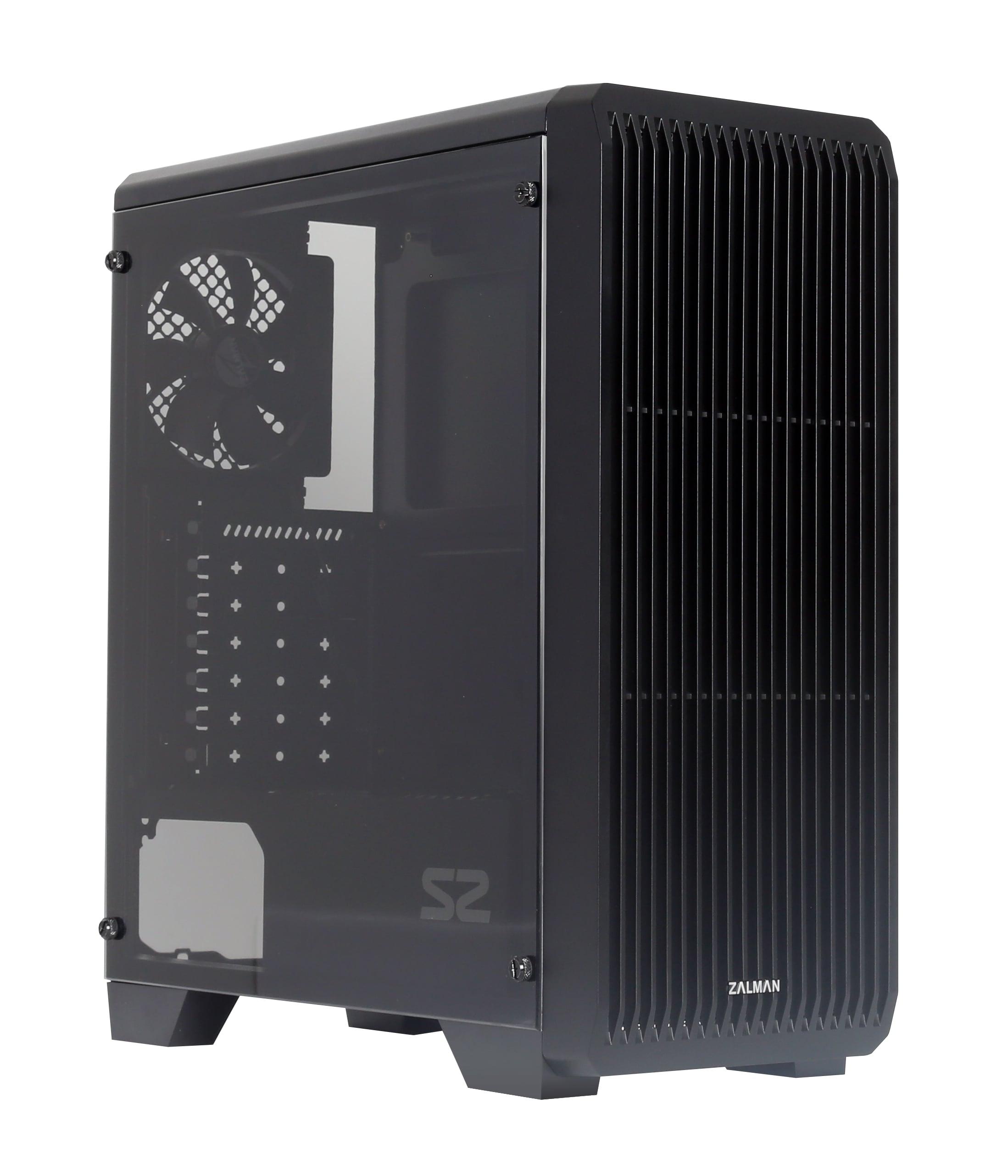 case Zalman miditower S2, ATX/mATX/Mini-ITX, bez zdroje, USB3.0, černá - S2