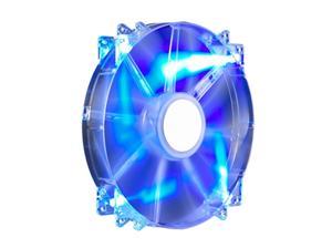 větrák Cooler Master 200x200x30 Mega Flow, LED modrá transparent 19dBA
