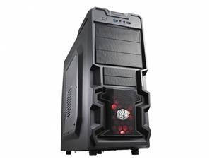 CoolerMaster case miditower K380, ATX,black,USB3.0
