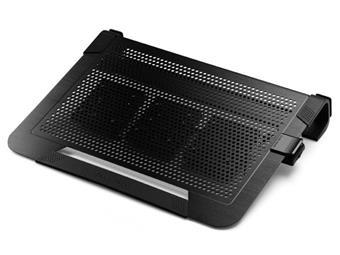 chladicí ALU podstavec Cooler Master NotePal U3 PLUS pro NTB 15-19'' black, 3x8cm fan