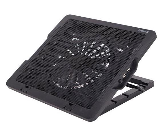 Chladící podložka pro NB Zalman ZM-NS1000, černá, výškově stavitelný, do 16'', 180mm větrák