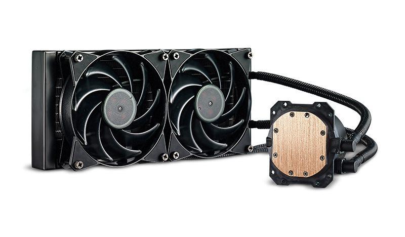 vodní chladič Cooler Master MasterLiquid Lite 240, univ. socket, 120mm PWM fan