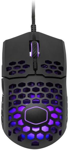 COOLER MASTER herní myš LightMouse MM711, 400-16000DPI, RGB podsvícení, matná černá - MM-711-KKOL1
