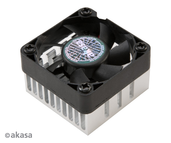 AKASA chladič chipsetu - hliníkový - černý