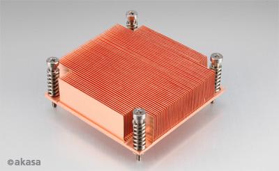 AKASA chladič CPU - 1U měděný pro servery