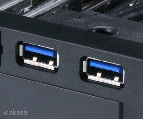 "AKASA Lokstor M51 - 2.5"" a 3.5"" HDD rack do 5,25"""
