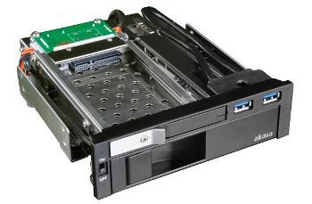 AKASA Lokstor M51 - 2.5'' a 3.5'' HDD rack do 5,25'' - AK-IEN-01