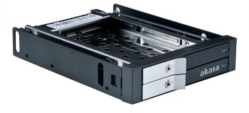 AKASA Lokstor M21 - 2 x 2,5'' HDD rack do 3,5''