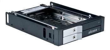 "AKASA Lokstor M21 - 2 x 2,5"" HDD rack do 3,5"""