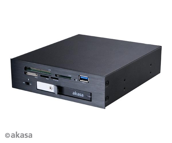 """AKASA Lokstor M26 - čtečka a 2,5"""" HDD do 5,25"""""""