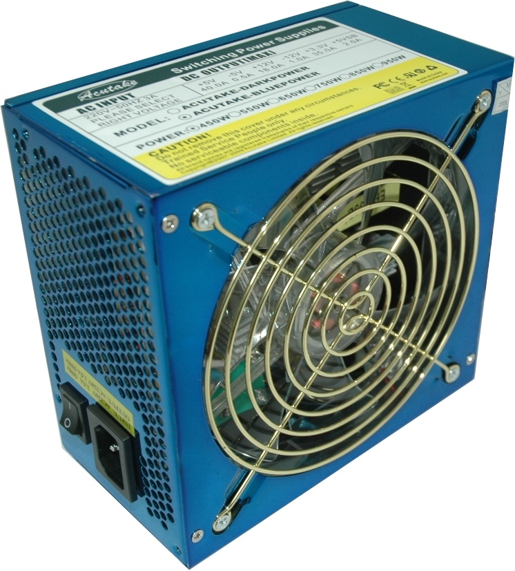 ACUTAKE ACU-BLUEPOWER 450W (140MM BLUE LED FAN)