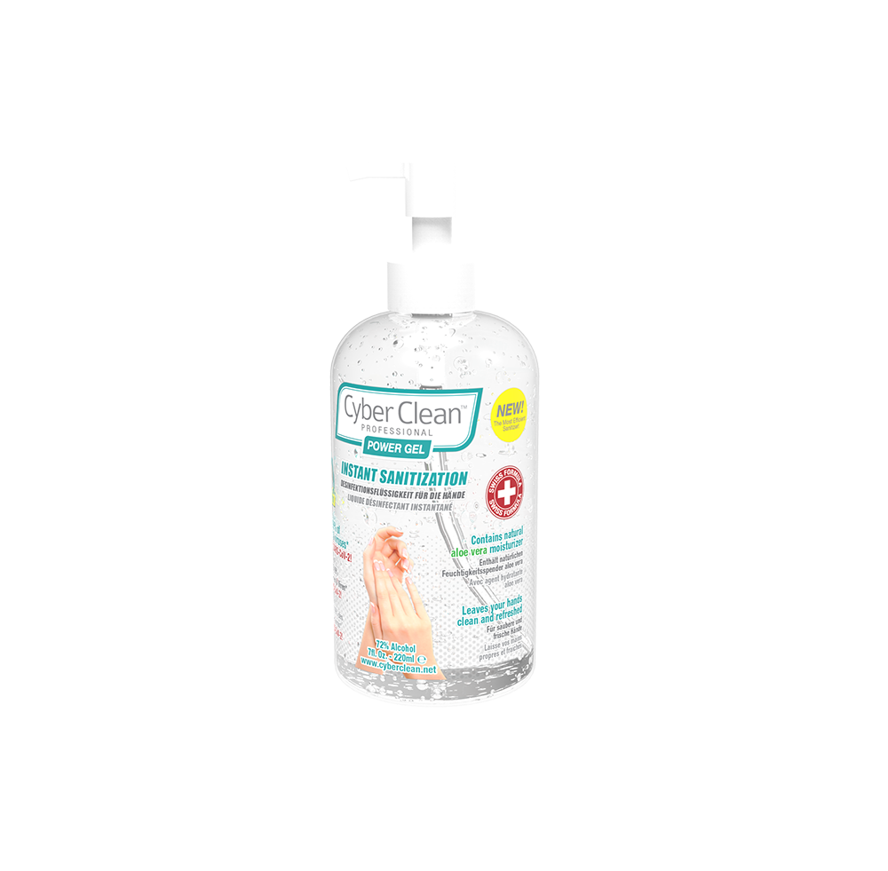 CyberClean POWER GEL - instant liquid sanitizer 7 oz / 220 ml (47029) - 47029