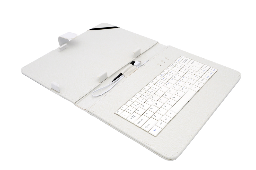 AIREN AiTab Leather Case 4 with USB Keyboard 10'' WHITE (CZ/SK/DE/UK/US.. layout)