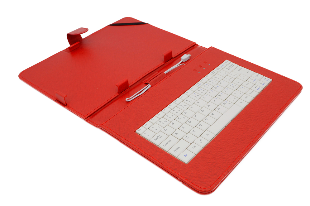 AIREN AiTab Leather Case 4 with USB Keyboard 10'' RED (CZ/SK/DE/UK/US.. layout)