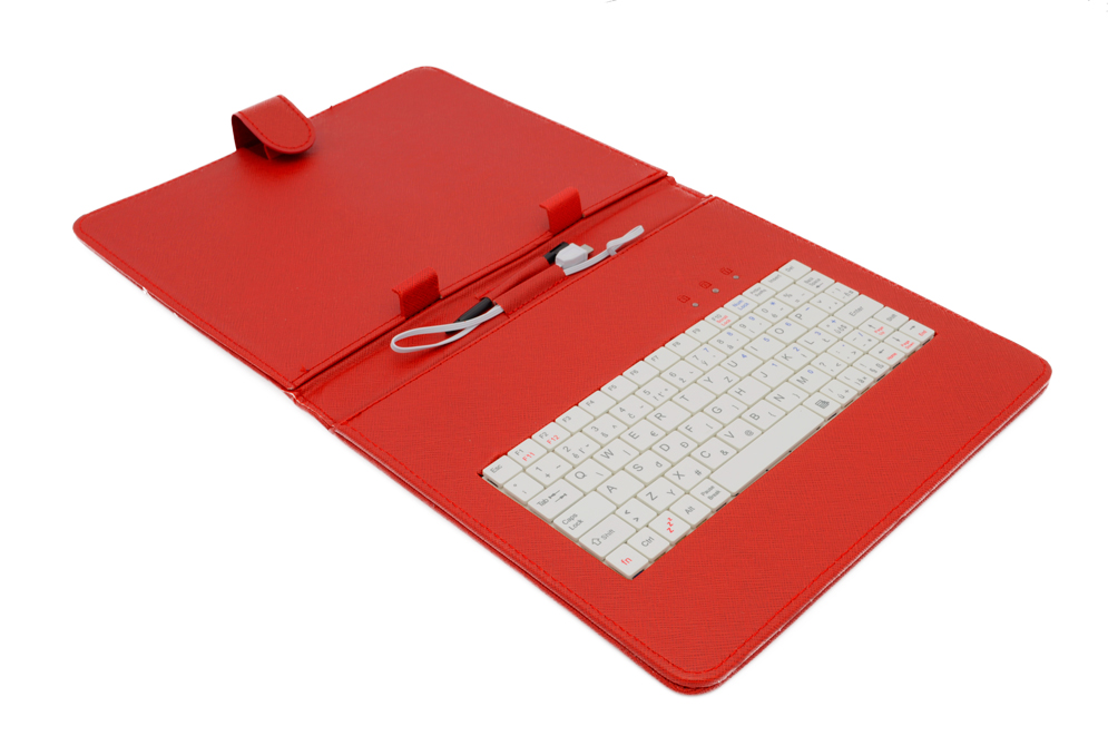 AIREN AiTab Leather Case 3 with USB Keyboard 9,7'' RED (CZ/SK/DE/UK/US.. layout)