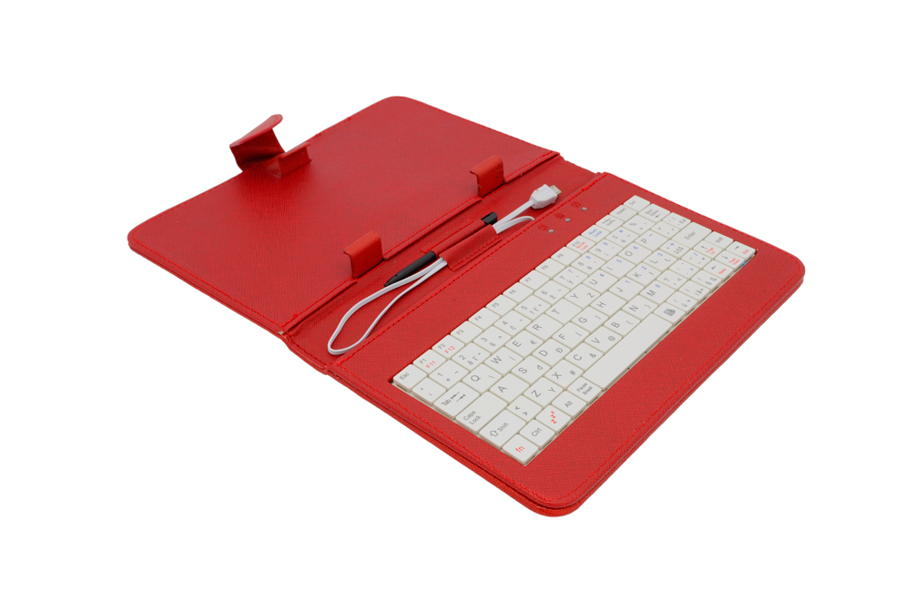 AIREN AiTab Leather Case 1 with USB Keyboard 7'' RED (CZ/SK/DE/UK/US.. layout)