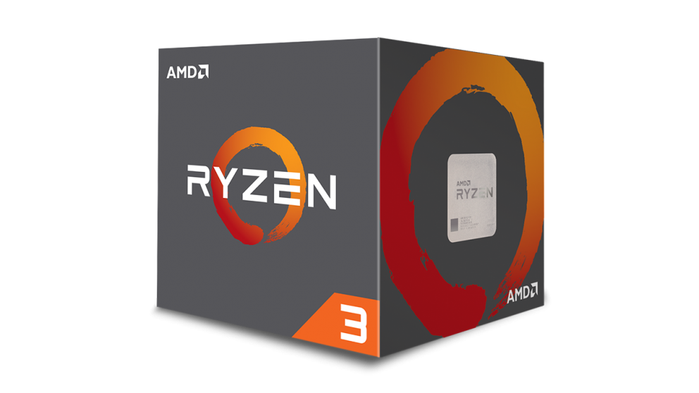 CPU AMD Ryzen 3 1300X 4core (3,5GHz) Wraith Stealth